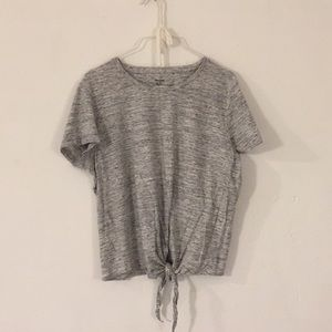 Madewell tie front top